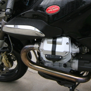 The Breva 1200 V-Twin Engine, shared with the Norge.