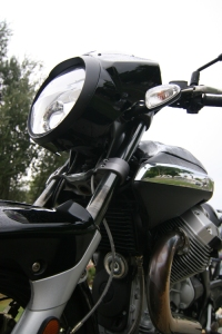 Moto Guzzi Breva 1200 Sport detail, click for larger picture.